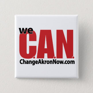 CAN logo button! 15 Cm Square Badge