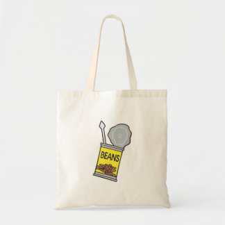 can of beans budget tote bag
