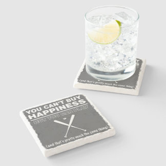 Can t Buy Happiness Baseball Stone Beverage Coaster