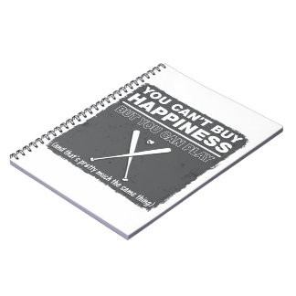 Can t Buy Happiness Baseball Spiral Notebook