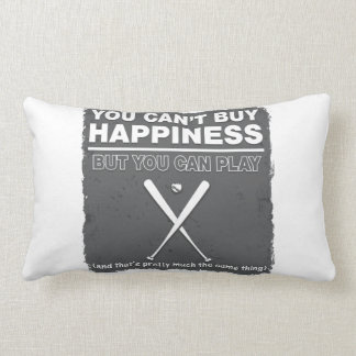 Can t Buy Happiness Baseball Pillows