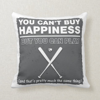 Can t Buy Happiness Baseball Throw Pillow