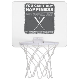 Can t Buy Happiness Baseball Mini Basketball Backboards