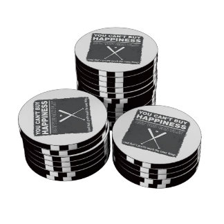 Can t Buy Happiness Baseball Poker Chips