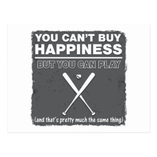 Can t Buy Happiness Baseball Post Card
