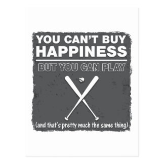 Can t Buy Happiness Baseball Postcards