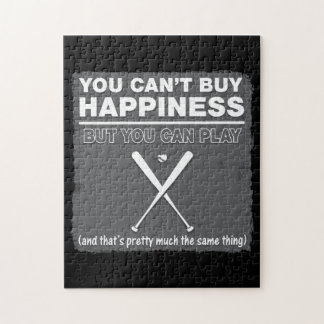 Can t Buy Happiness Baseball Jigsaw Puzzles