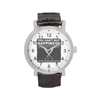 Can t Buy Happiness Baseball Watch