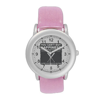 Can t Buy Happiness Baseball Wrist Watches