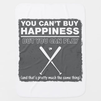 Can t Buy Happiness Baseball Baby Blankets