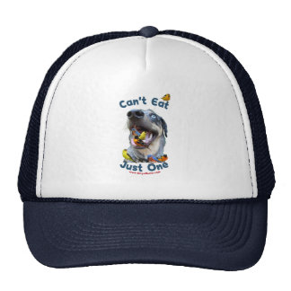 Can t Eat Just One Bird Dog Mesh Hats
