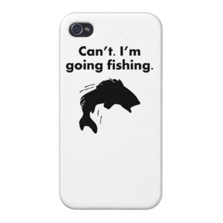 Can t I m Going Fishing iPhone 4/4S Cover