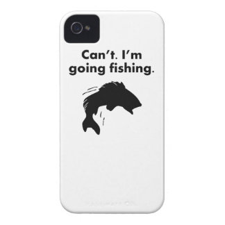 Can t I m Going Fishing iPhone 4 Case-Mate Cases