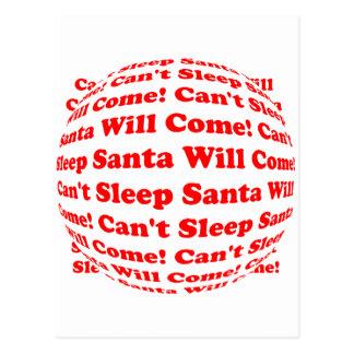 Can t Sleep Santa Will Come Postcard