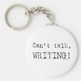 Can t talk writing key chain