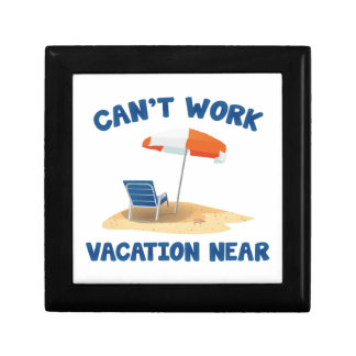 Can't Work Vacation Near Gift Boxes