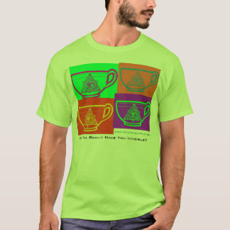 Can Tea Really Make You Invisible? - Multi Tea Cup T-Shirt