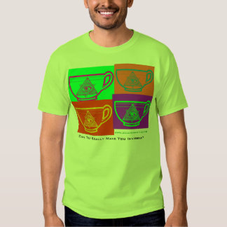 Can Tea Really Make You Invisible? - Multi Tea Cup T Shirts