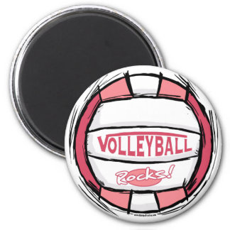 Can U Dig It Volleyball Pink 6 Cm Round Magnet