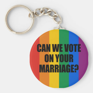 CAN WE VOTE ON YOUR MARRIAGE? BASIC ROUND BUTTON KEY RING