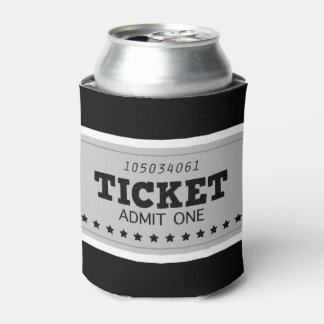 Can with original vintage Ticket