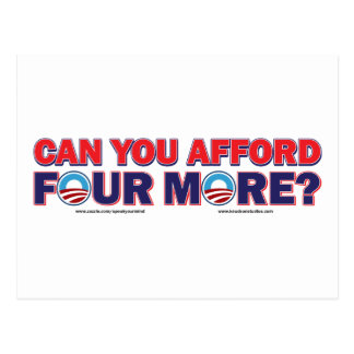 Can You Afford 4 More Postcard