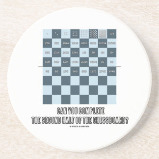 Can You Complete The Second Half Of The Chessboard Sandstone Coaster