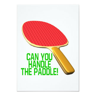 Can You Handle The Paddle 13 Cm X 18 Cm Invitation Card