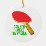 Can You Handle The Paddle Round Ceramic Decoration
