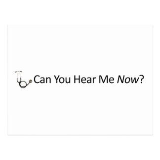 Can you hear me now postcard