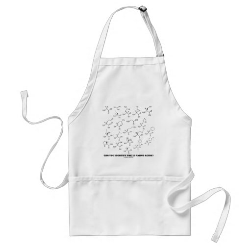 Can You Identify The 20 Amino Acids? (Chemistry) Apron