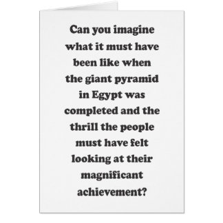 Can You Imagine - Message Inside Greeting Card
