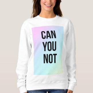 Can You Not Slogan White Jumper Pastel Print Sweatshirt