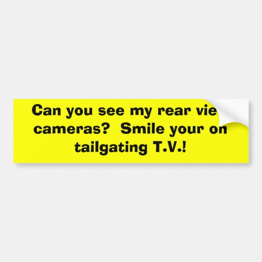 Can you see my rear view cameras? Smile