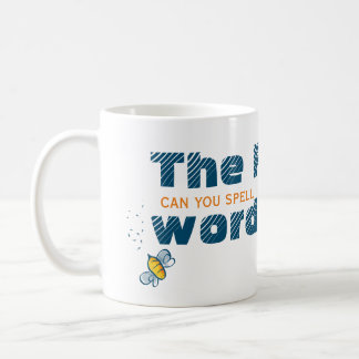 Can You Spell The F Word | Feldenkrais Bee Basic White Mug