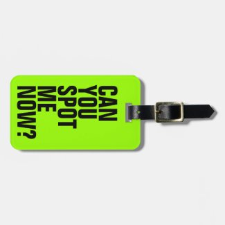 Can You Spot Me Now? Funny Luggage Tag