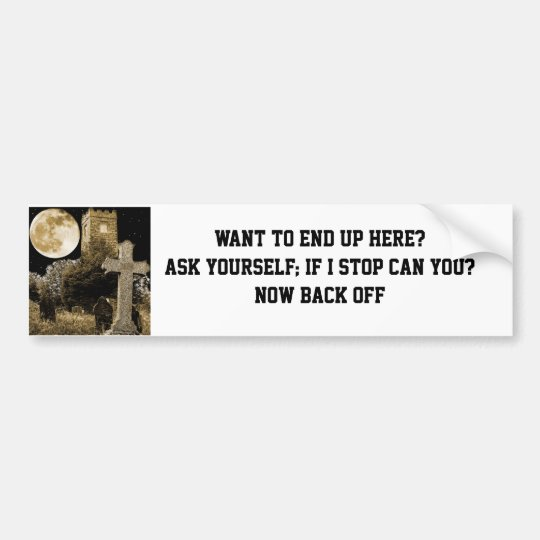CAN YOU STOP? BUMPER STICKER