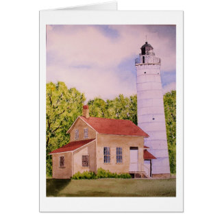 Cana Island Lighthouse Blank Greeting Card