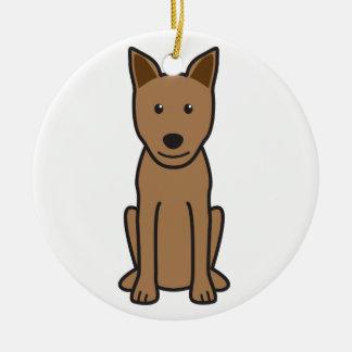 Canaan Dog Cartoon Christmas Ornament