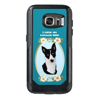 Canaan Dog on Teal Floral OtterBox Samsung Galaxy S7 Case