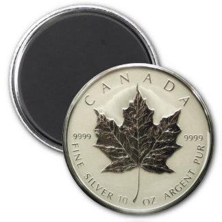Canada 10oz Silver Coin 6 Cm Round Magnet