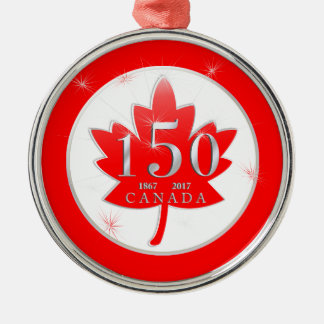 Canada 150 Birthday Celebration Maple Leaf Christmas Ornament