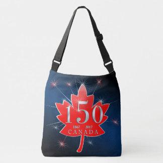 Canada 150 Birthday Celebration Maple Leaf Crossbody Bag