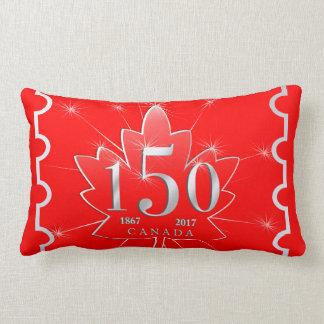 Canada 150 Birthday Celebration Maple Leaf Lumbar Pillow