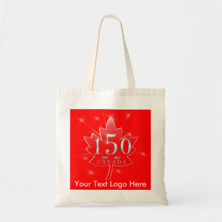 Canada 150 Birthday Celebration Maple Leaf Tote Bag