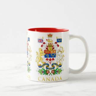 Canada 150 Commemorative Celebration Coat of Arms Two-Tone Coffee Mug