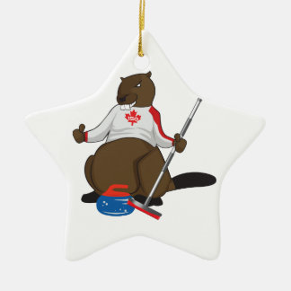 Canada 150 in 2017 Beaver Curling Main Ceramic Star Decoration