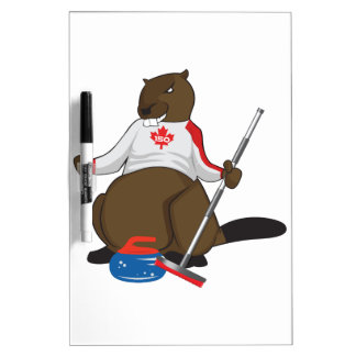 Canada 150 in 2017 Beaver Curling Main Dry Erase Board