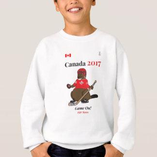 Canada 150 in 2017 Beaver Hockey Game On Sweatshirt