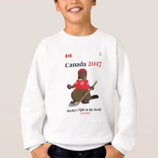 Canada 150 in 2017 Beaver Hockey Night World Sweatshirt